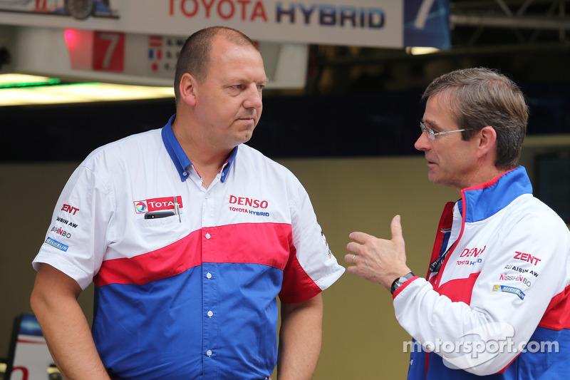 John Steeghs, Toyota team manager e Pascal Vasselon, direttore tecnico Toyota