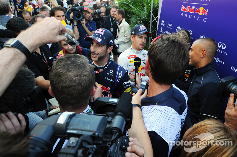 Daniel Ricciardo, Red Bull Racing and Sebastian Vettel, Red Bull Racing