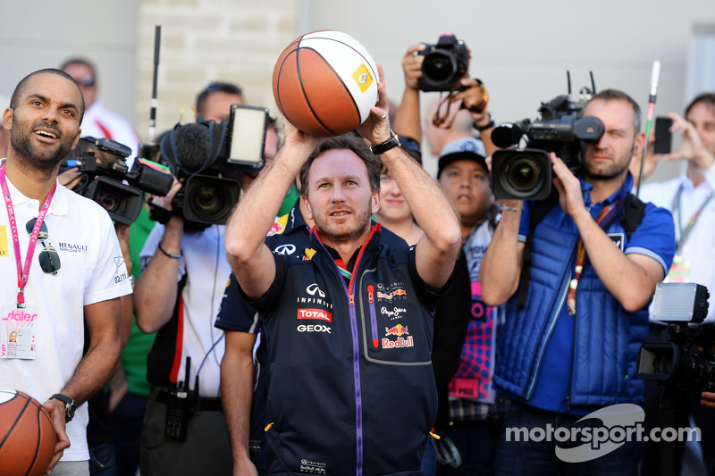 Christian Horner, Red Bull Racing Takım Patronu ve Tony Parker, NBA Basketbol Oyuncusu basketbol yet