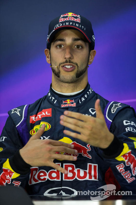 Daniel Ricciardo, Red Bull Racing in the FIA Press Conference