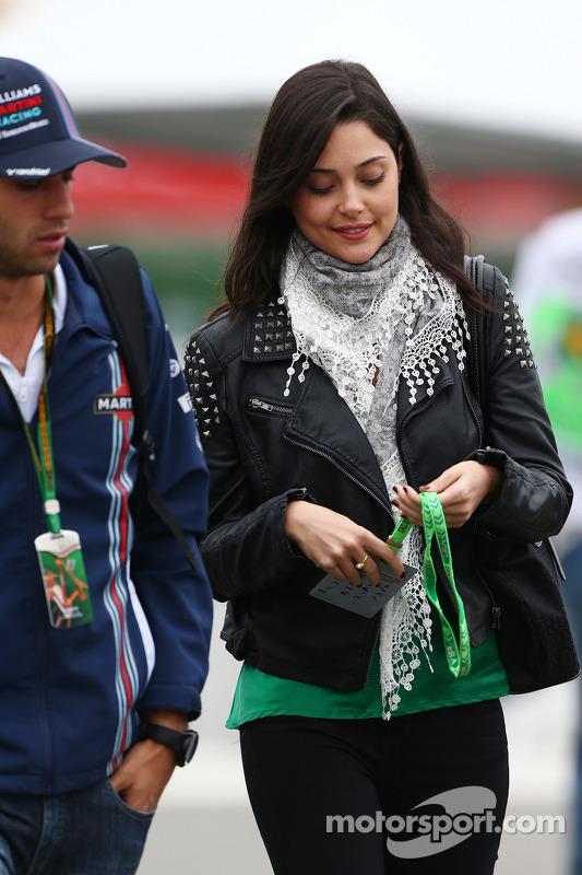 Felipe Nasr, Williams Test ve Yedek Pilotu ve kız arkadaşı Giulia Maria Testoni