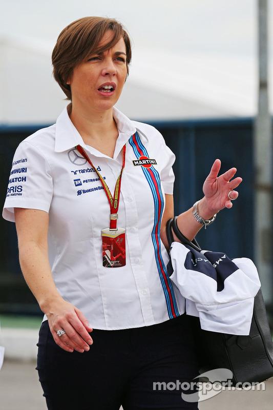 Claire Williams, diretora da Williams
