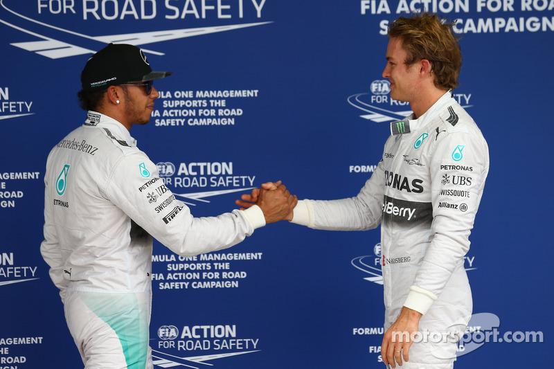Lewis Hamilton, Mercedes AMG F1 W05 y Nico Rosberg, Mercedes AMG F1 W05
