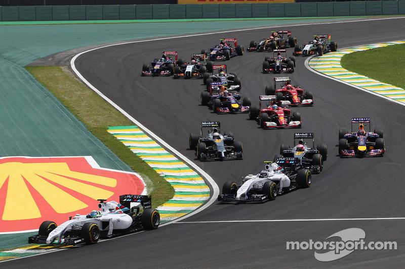 Felipe Massa, Williams FW36 at the start of the race
