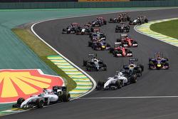 Felipe Massa, Williams FW36, en el arranque de la carrera