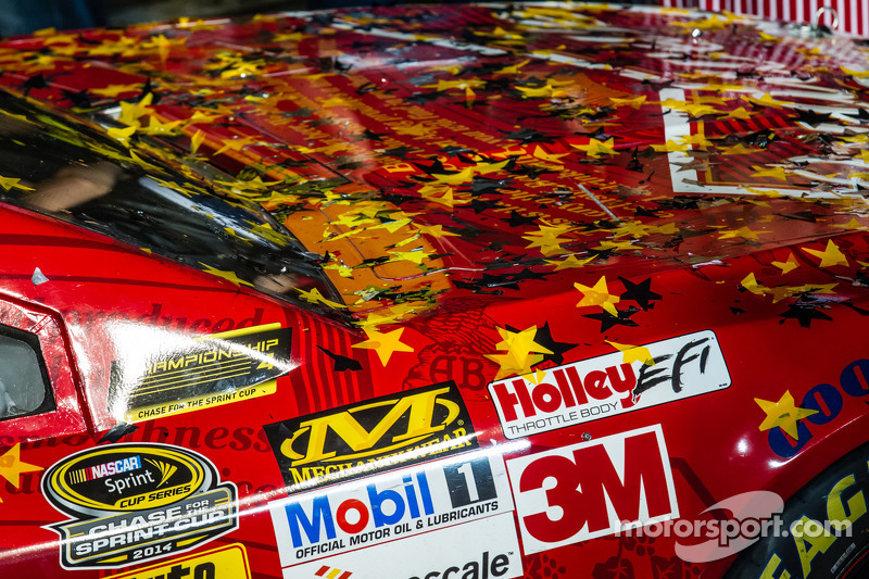 Stewart-Haas Racing Chevrolet'nin Kevin Harvick şampiyon aracı detayı