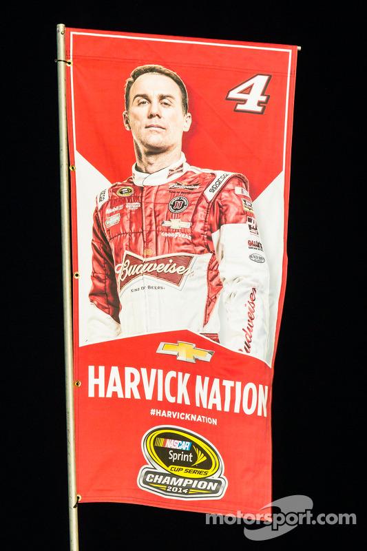 Faixa para o campeão de 2014 da NASCAR Sprint Cup series, Kevin Harvick, Stewart-Haas Racing Chevrolet