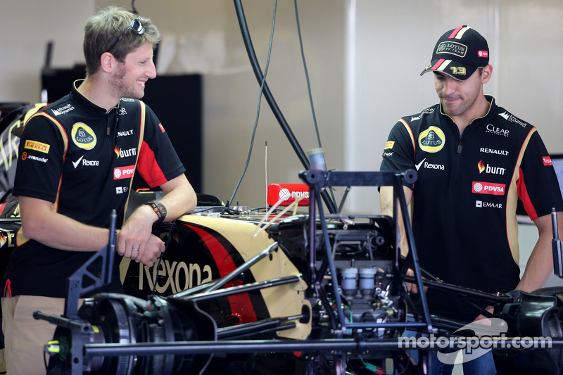 Romain Grosjean, Lotus F1 Team e Pastor Maldonado, Lotus F1 Team