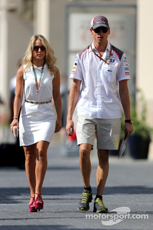 Adrian Sutil, Sauber F1 Team and his girlfriend Jennifer Becks