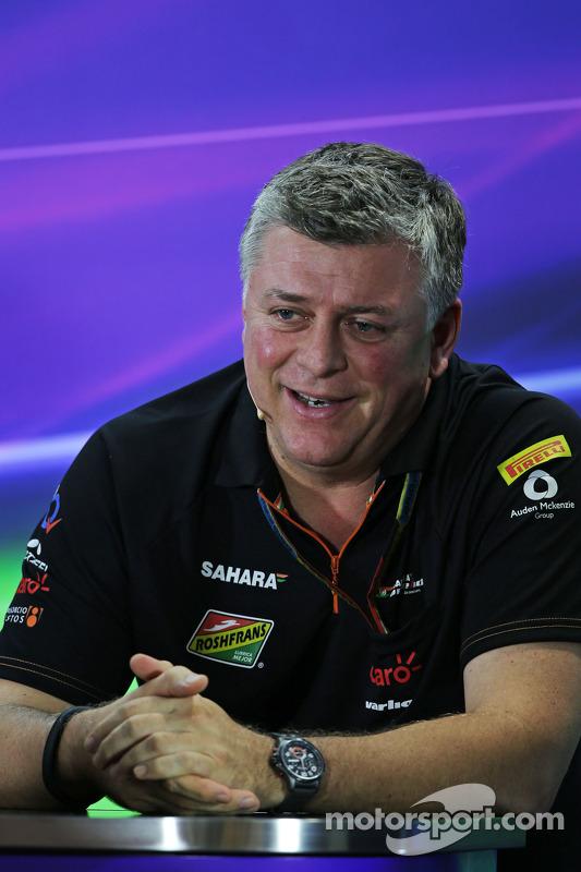 Otmar Szafnauer, chefe de operações da Sahara Force India F1 na Conferência de Imprensa da FIA