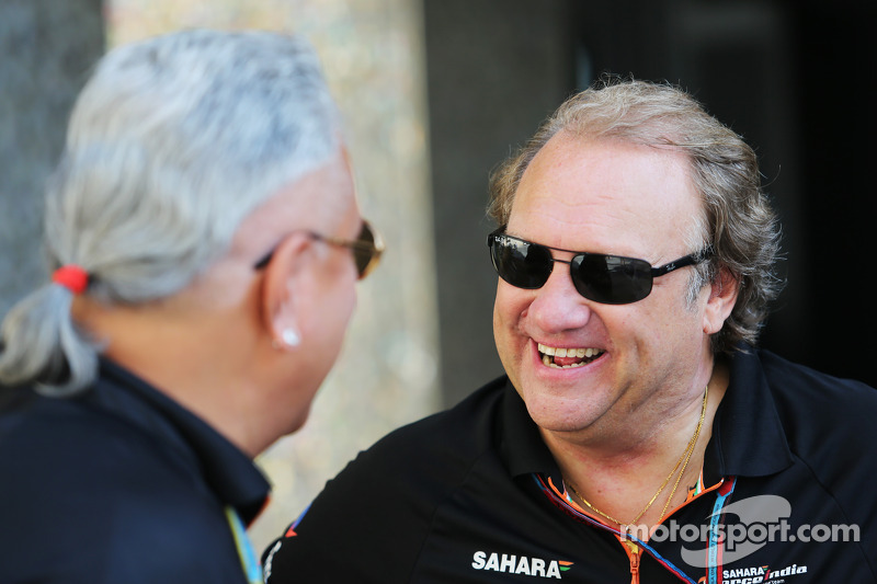 (L to R): Dr. Vijay Mallya, Sahara Force India F1 Team Owner with Robert Fernley, Sahara Force India