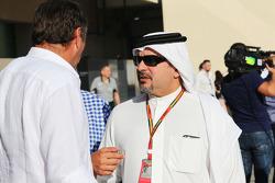 Gerhard Berger und Prinz Salman bin Hamad Al Khalifa und Kronprinz von Bahrain