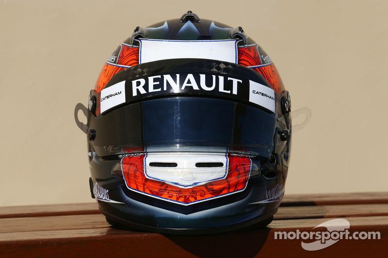 Casco de Will Stevens, Caterham F1 Team