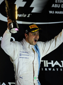Felipe Massa, Williams celebrates his second position on the podium