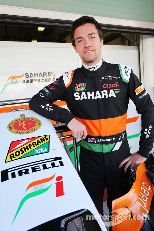 Jolyon Palmer, Sahara Force India F1 Team, piloto de pruebas