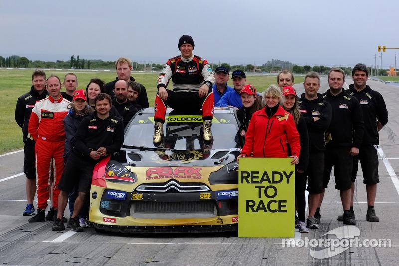 2014 champion Petter Solberg celebrates