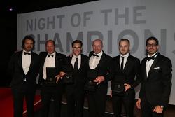 Blancpain ganadores: Stéphane Ratel, Vincent Vosse, Laurens Vanthoor, Hugo da Silva