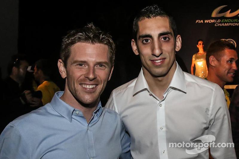 Los campeones 2014 Anthony Davidson, Sebastien Buemi, Toyota Racing