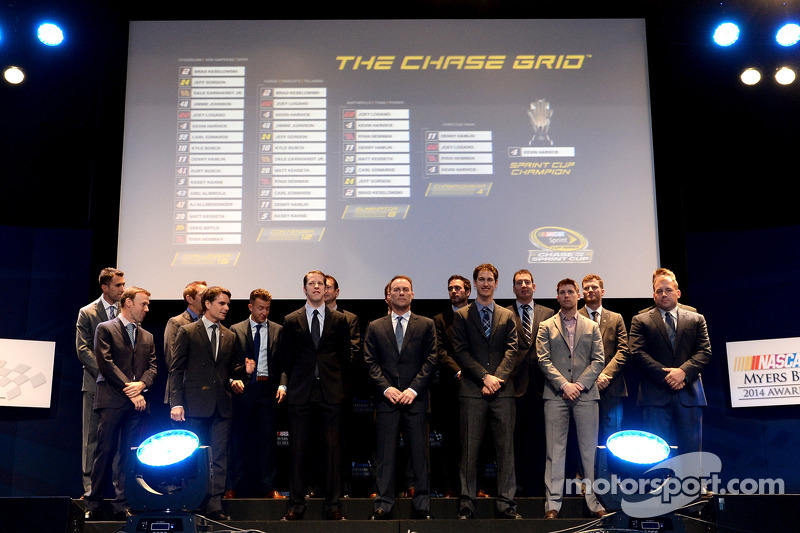 I piloti 2014 Chase sul palco durante Myers Brothers Awards
