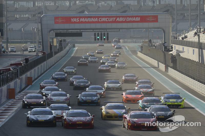 Ferrari Challenge Europe race 1 start