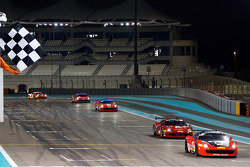 #307 Ferrari of Ontario Ferrari 458: Robert Herjavec takes the checkered flag