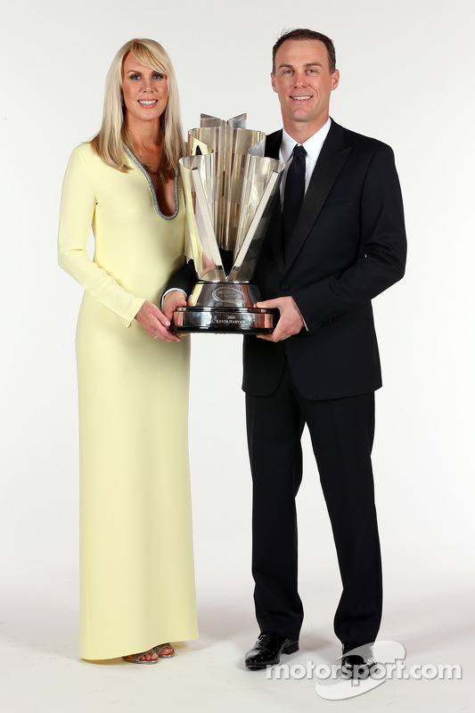 2014 champion Kevin Harvick, Stewart-Haas Racing with wife DeLana Harvick