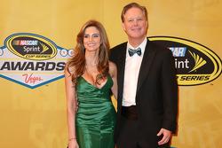 Brian France et sa femme Amy