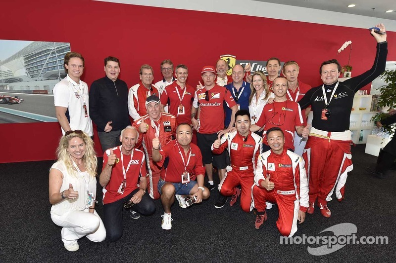 Ferrari support staff group photo