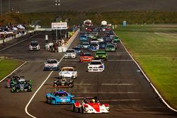 Start: #17 Davidson Racing Norma M20F BMW: Alex Lloyd, Bob Davidson, Brian Frisselle, Kyle Marcelli, Randy Pobst leads