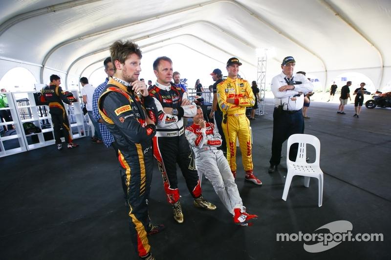 Romain Grosjean, Petter Solberg, Tom Kristensen, Ryan Hunter-Reay