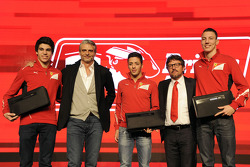 Maurizio Arrivabene, Sergio Marchionne with Ferrari Drivers Academy drivers