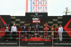 Michael van der Mark, Pata Yamaha, Alex Lowes, Pata Yamaha, Chaz Davies, Aruba.it Racing-Ducati SBK Team