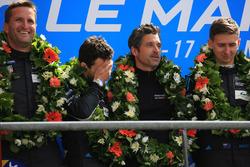LMGTE Am podium: winners Christian Ried, Julien Andlauer, Matt Campbell, Proton Competition, Patrick Dempsey, Dempsey Proton Competition