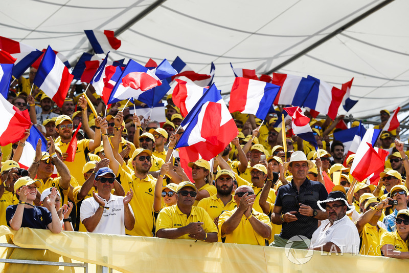French fans wave their tricolour flags