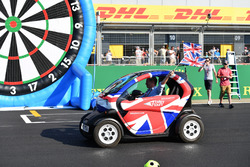 Natalie Pinkham, Sky TV and Johnny Herbert, Sky TV in a Renault Twizzy