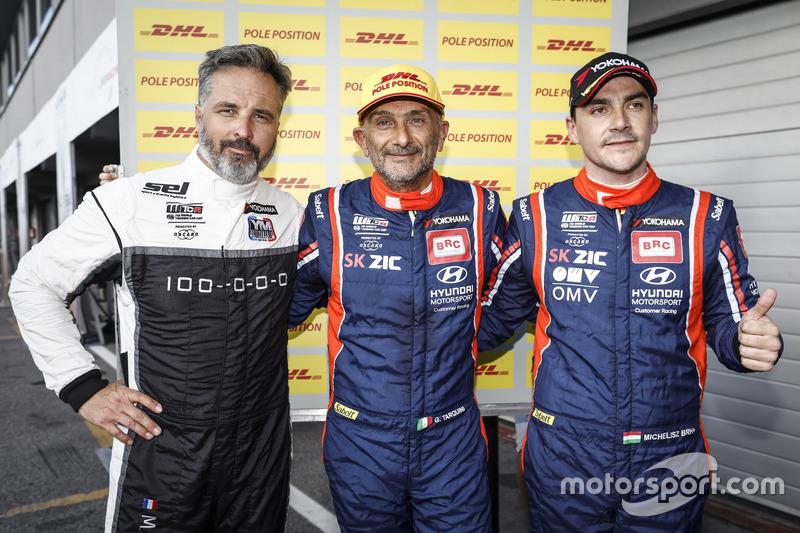 Top 3 Qualifche 1: Gabriele Tarquini, BRC Racing Team Hyundai i30 N TCR, Yvan Muller, YMR Hyundai i30 N TCR, Norbert Michelisz, BRC Racing Team Hyundai i30 N TCR