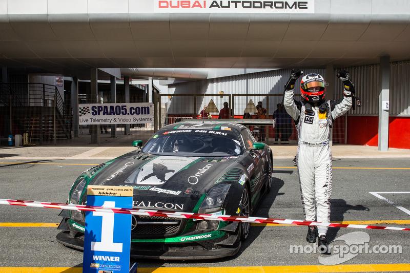 Race winner Yelmer Buurman celebrates in parc fermé