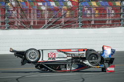 #50 Fifty Plus Racing Endures for a Cure/Highway to Help Race Team Riley BMW: Byron DeFoor crashes heavily