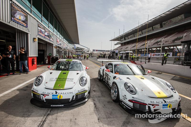 #25 Black Falcon, Porsche 991 Cup und #26 Black Falcon, Porsche 991 Cup