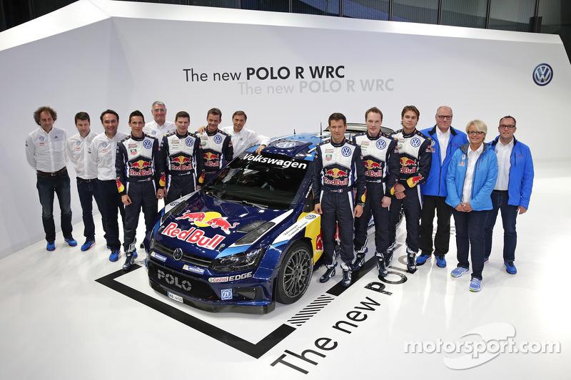 Der Volkswagen Polo R 2015 mit Sébastien Ogier, Julien Ingrassia, Jari-Matti Latvala, Miikka Anttila, Andreas Mikkelsen, Ola Floene