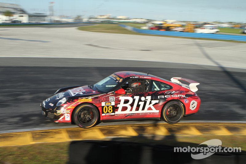 #08 Rebel Rock Racing Porsche 997: Andy Lally, Cameron Lawrence