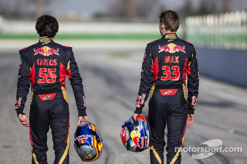 Max Verstappen und Carlos Sainz jr., Scuderia Toro Rosso