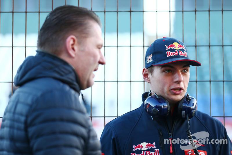 Max Verstappen, Scuderia Toro Rosso, ve babası Jos Verstappen