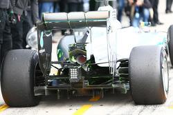 Detalle del escape del Mercedes AMG F1 W06