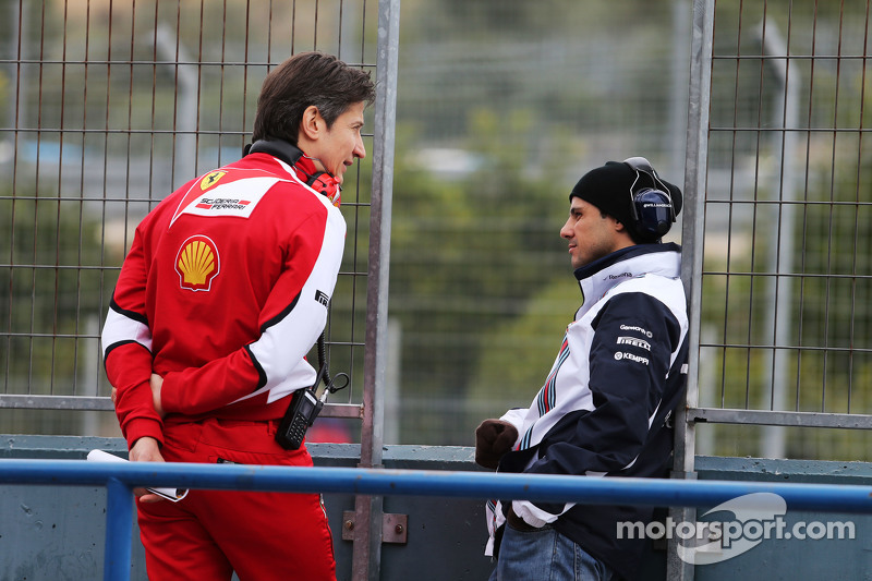 (Von links nach rechts): Massimo Rivola, Ferrari-Sportdirektor, mit Felipe Massa, Williams