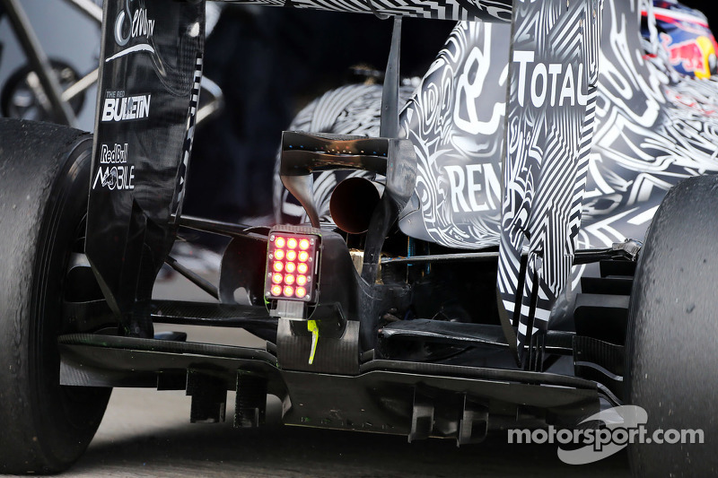 Daniel Ricciardo, Red Bull Racing RB11, hinterer Diffusor, Detail