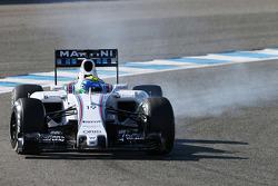 Феліпе Масса, Williams FW37 блокує колеса на гальмуванні