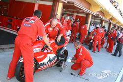 Ducati pit area