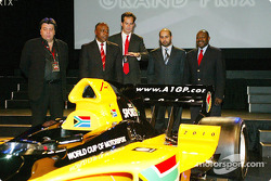 Tony Teixeira (RSA) A1 Grand Prix, Tokyo Sexwale (RSA) Chairman of Mvelaphamda Holdings and A1 Grand Prix South Africa seat holder, Brian Menell (RSA) A1 Grand Prix, His Highness Sheikh Maktoum Hasher Maktoum Al Maktoum (UAE) CEO A1 Grand Prix and Jackie