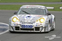 La Porsche 911 GT3 RS n°77 Choro Q Racing Team : Kazuyuki Nishizawa, Haruki Kurosawa